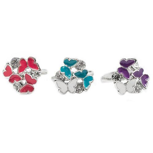 Butterfly Starlet Shimmer Rings