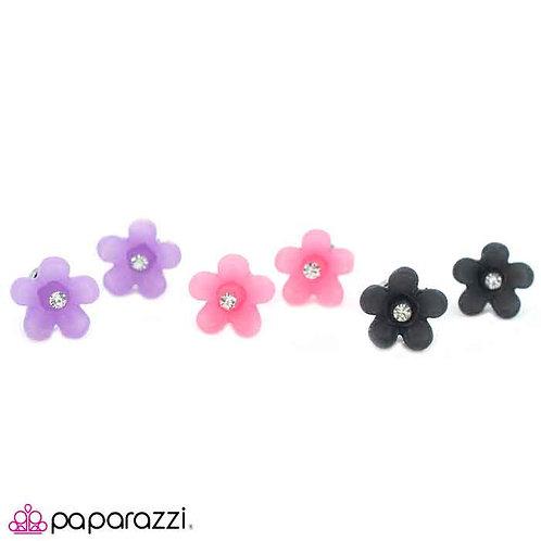 Translucent Flower Starlet Shimmer Earrings