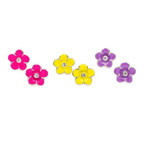 Large Flower Starlet Shimmer Earrings