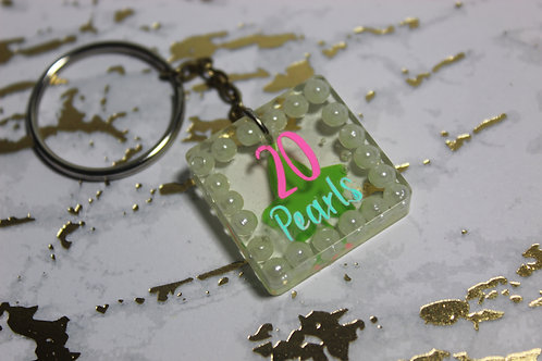 Pretty Girls 20 Pearls Keychain - D9 Collection
