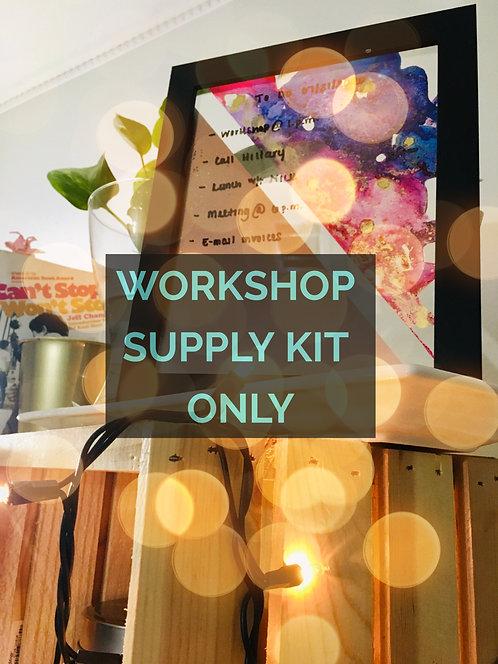 Alcohol Ink Workshop - Framed Dry Erase Board