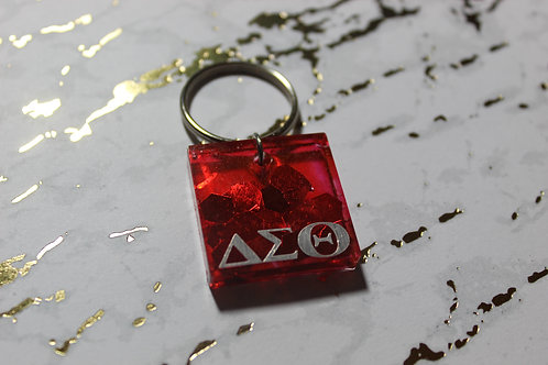 Red Sparkle Diva Keychain - D9 Collection