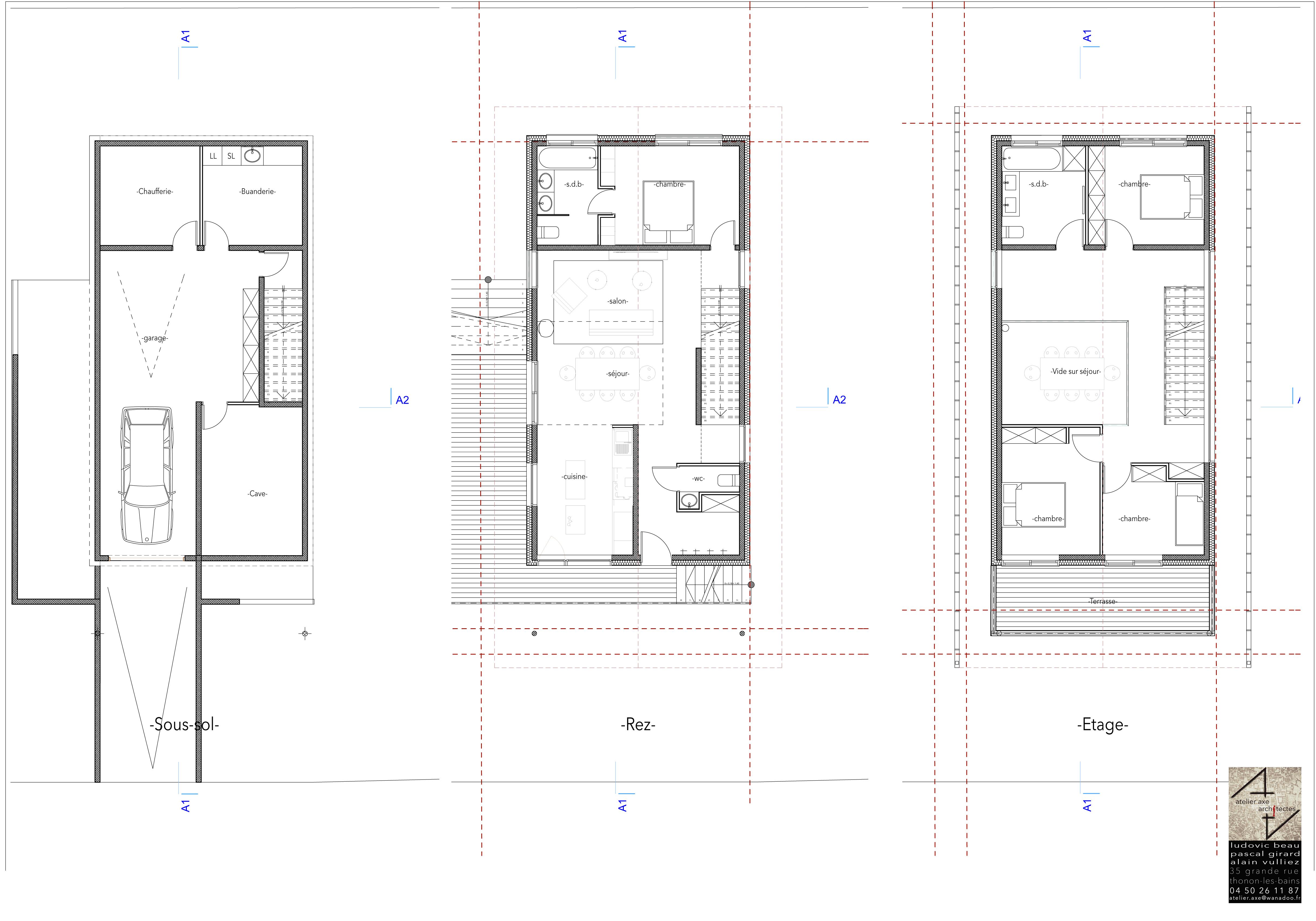 Plans étages