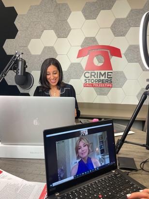 Rania Mankarious and Dominique Sachse recording Episode 25