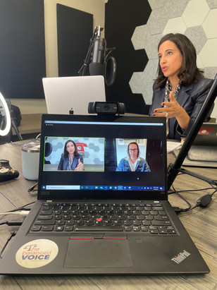 Rania Mankarious with Matthew McConaughey for Episode 23