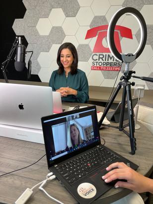 Rania Mankarious and Dr. Elizabeth Coffman recording Episode 29