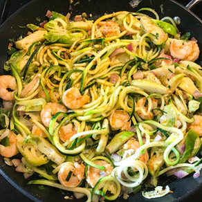 Zoodle Shrimp Stir-Fry