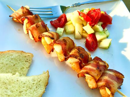 Shrimp & Bacon BBQ Kabobs