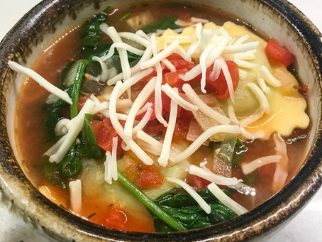 Ravioli Spinach Soup