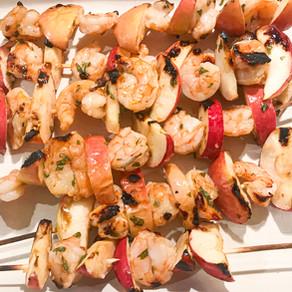 Shrimp & Apple Kabobs