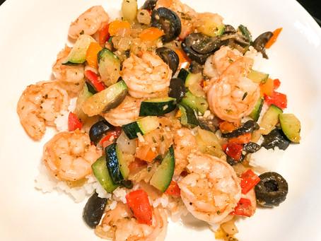 Shrimp Zucchini Stirfry