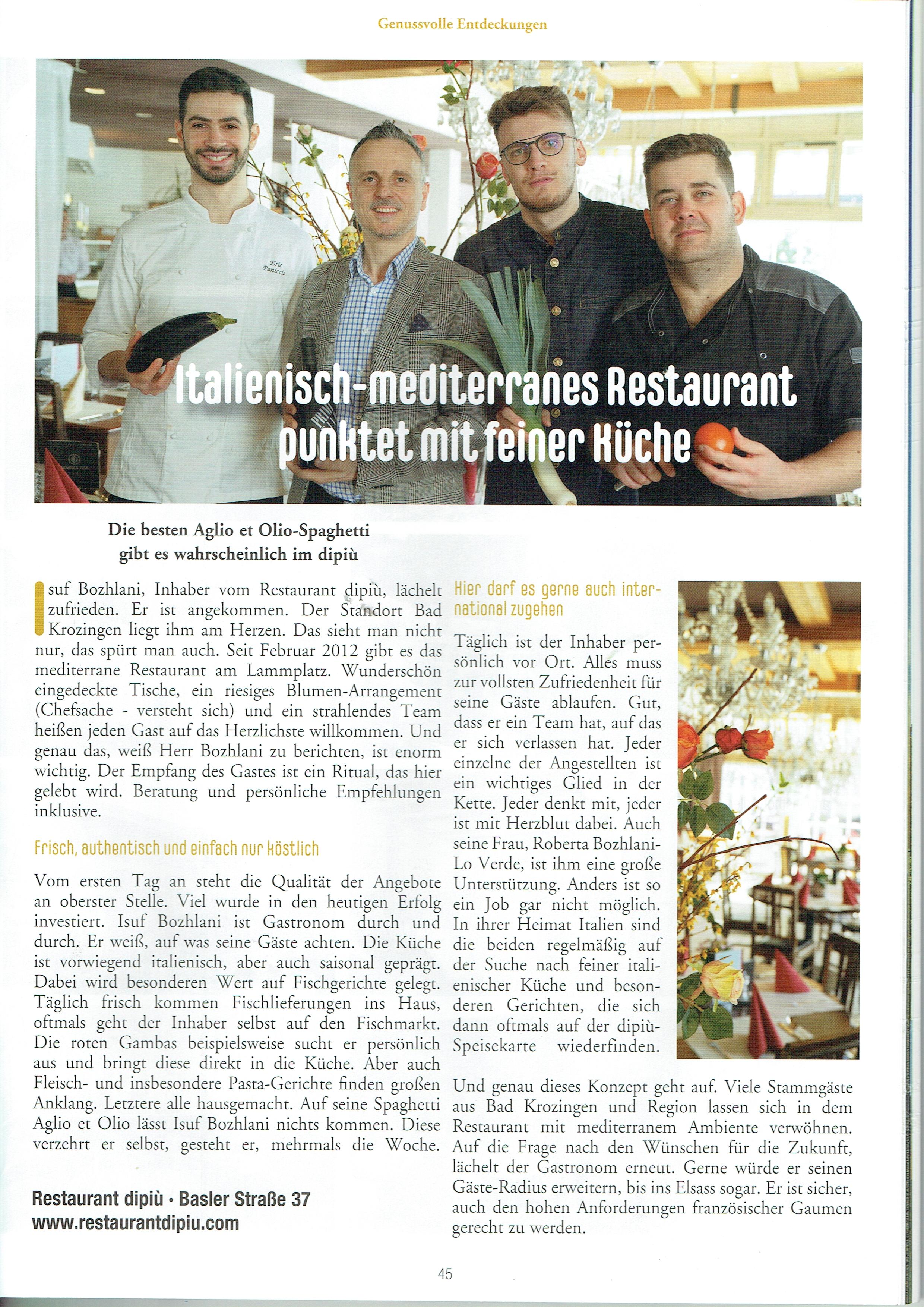 Ausgabe Gastgeber Magazin 2021 Bad Krozingen