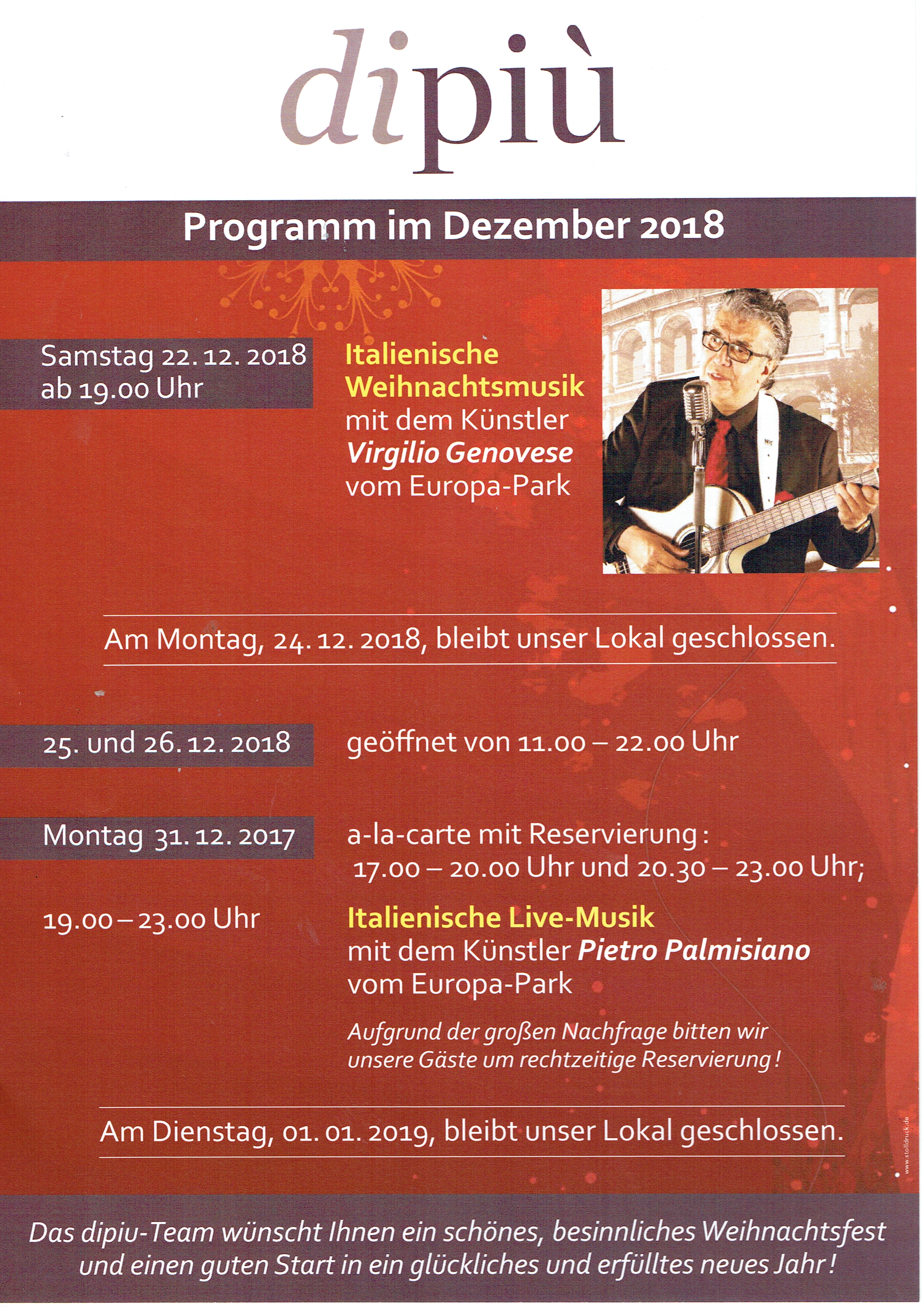 Programm Dezember 2018 dipiu