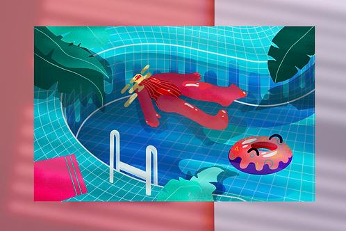 Pool Print A5