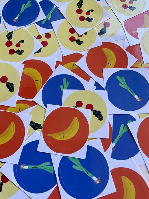 Fruity Sticker Pack (6 Stk)