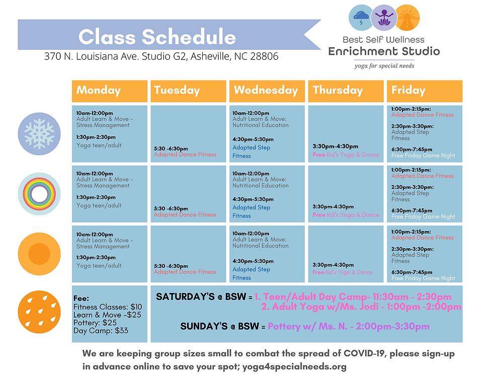 Copy of BSW Enrichment Center Schedule