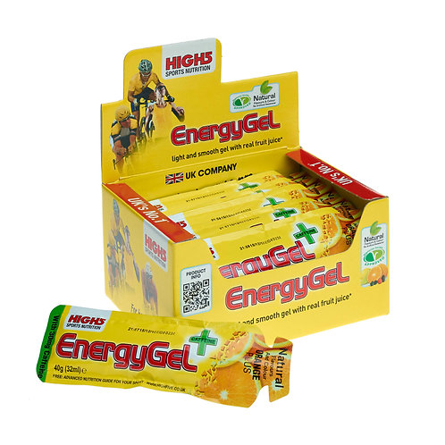 High5 EnergyGel Plus (Caffeine) - 20 Pack AVAILABLE in 2 Flavours