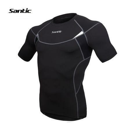 Santic Swift Men's Compression Short Sleeve Running Top