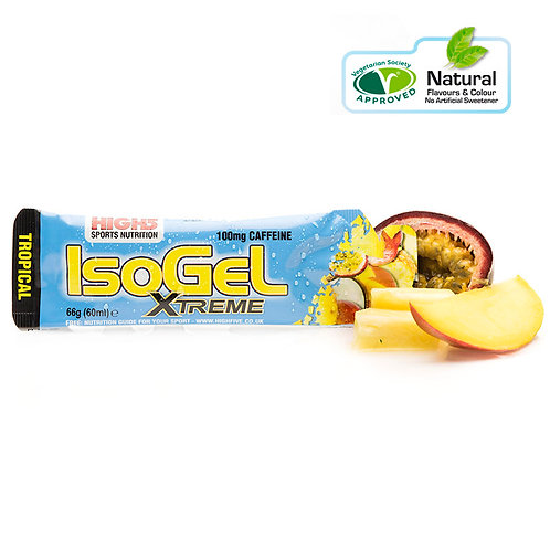 High5 Isogel Xtreme (100mg caffeine) Tropical flavour - 25 Pack