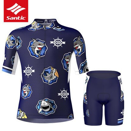Santic Little Shark Junior Cycling Kit For Boys