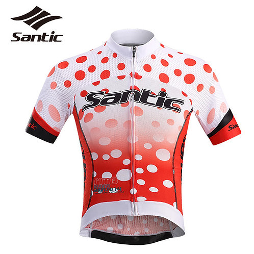 Santic Polka Dot Men's Short Sleeve Jersey
