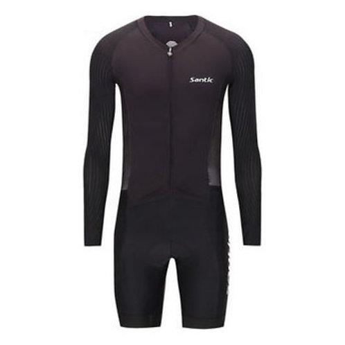 Santic Black Long Sleeve Pro Racesuit