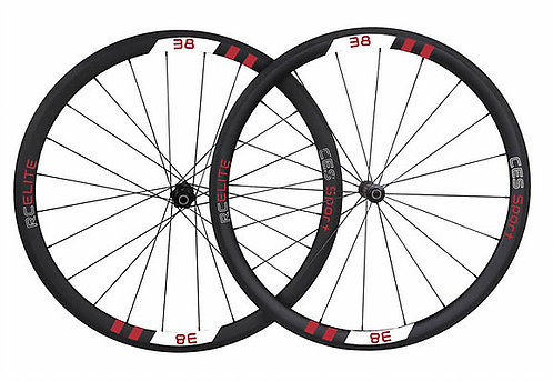 RC38 Elite Clincher Wheelset (Made to order)