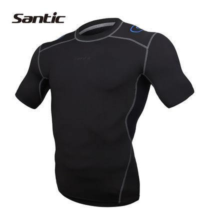 Santic Ray Men's Compression Short Sleeve Running Top