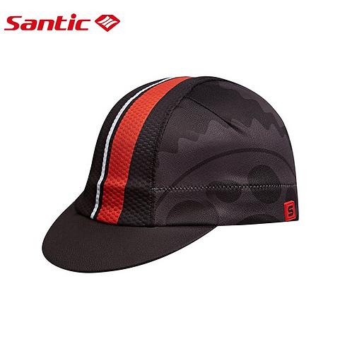 Santic Alozie Black & Red Cycling Cap