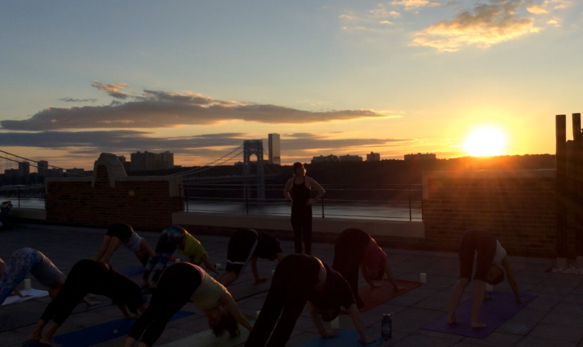 Rooftop Yoga Sunset