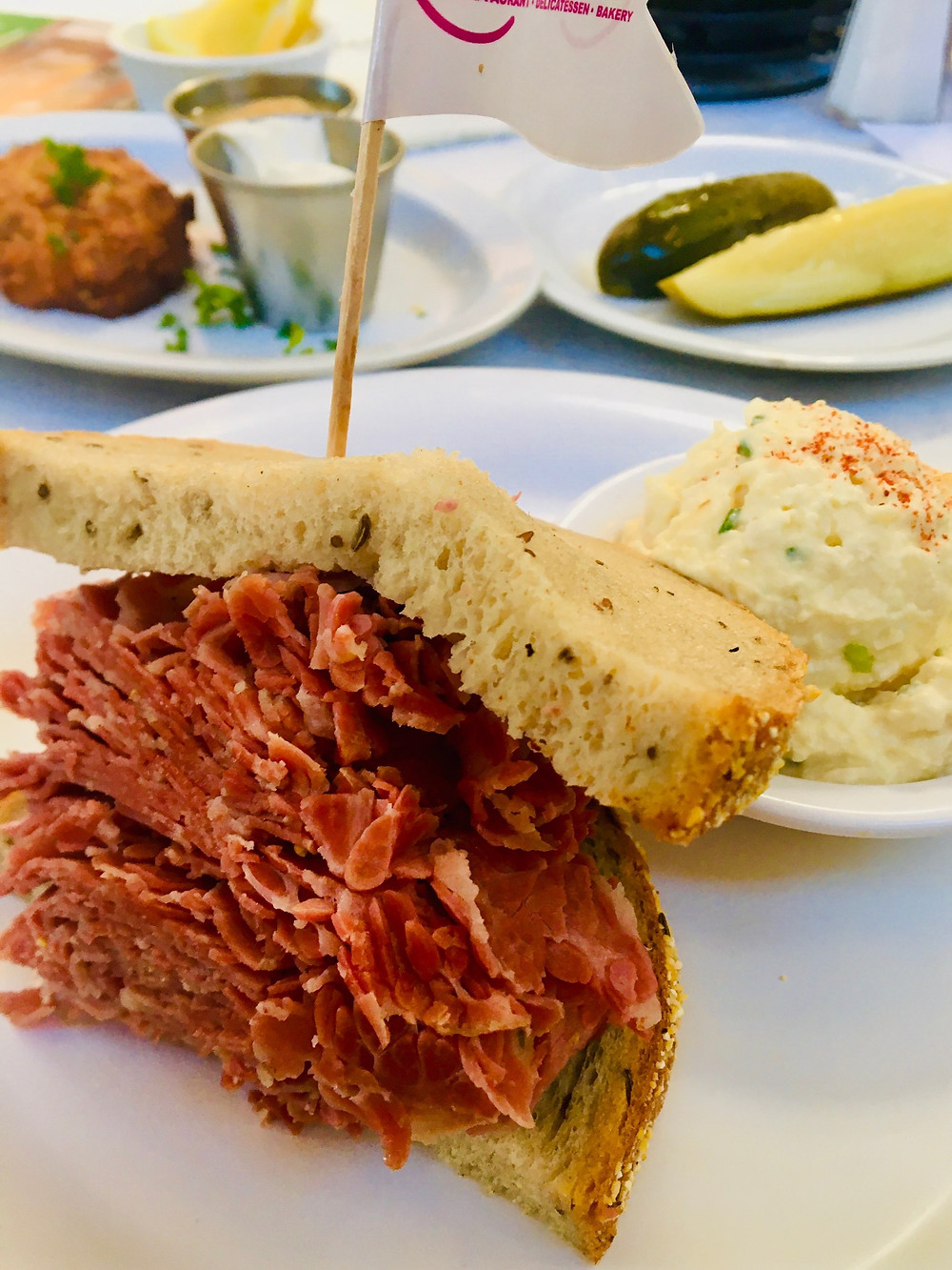 Photo: The masterpiece of a corned beef sandwich at Milton's – Photo David Boylan