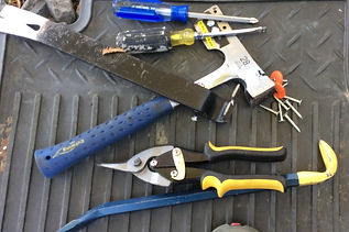 Hand tools for roofing work
