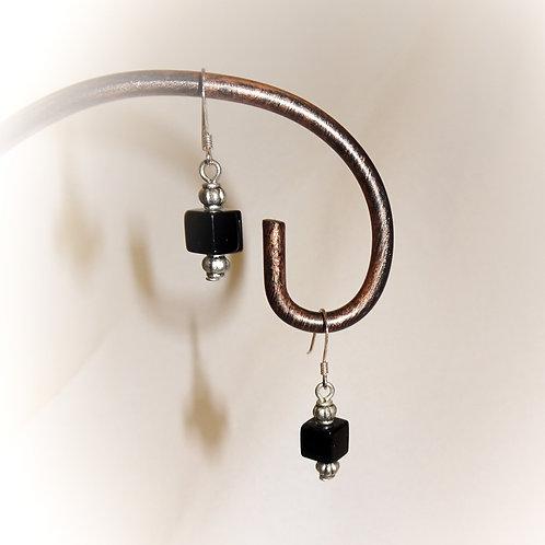 'Black Onyx' Earrings