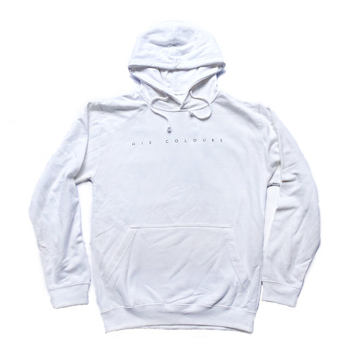 'His Colours' Hoodie White