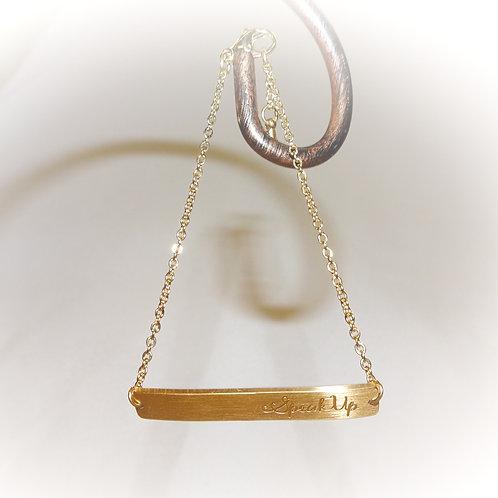 'Speak Up' Bar Bracelet