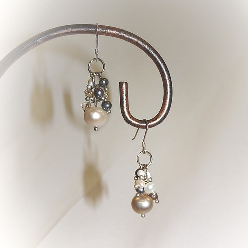 'Nightfall Cluster' Earrings