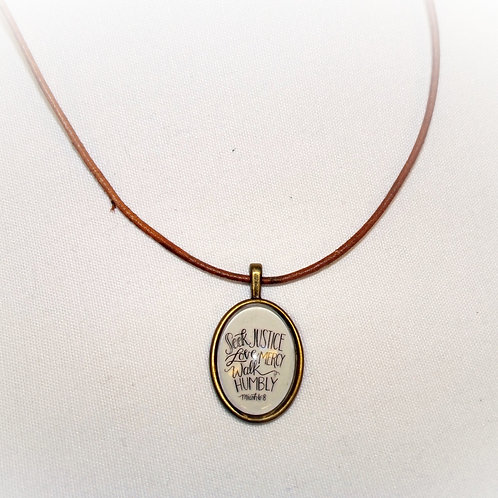 'Micah 6:8' Necklace