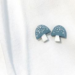 Blue Mushroom Studs