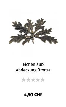 Eichenlaub Abdeckung Bronze