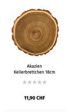 Akazein Keilerbrettchen 18cm