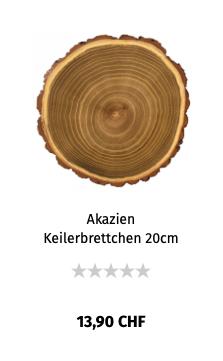 Akazein Keilerbrettchen 20 cm