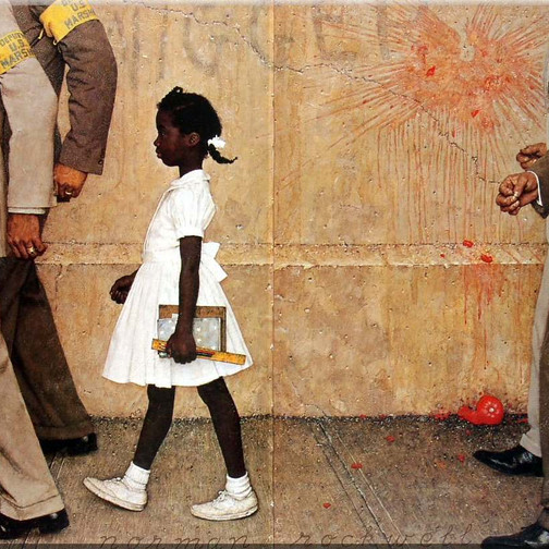 norman-rockwell-block-girl-with-guards-going-to-school