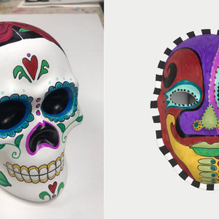 Painted Masks & Day of the Dead Skulls!