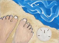 Beach white toes