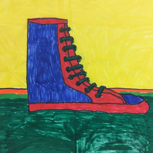 4th-5th grade Sneaker Drawings