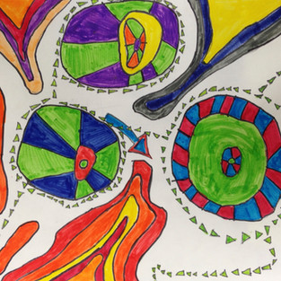 Concentric Circles, Colorful Abstracts!