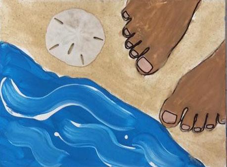 Beach tan toes