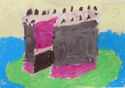 Wayne Thiebaud Study in oil pastel