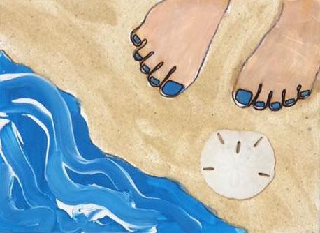 Beach blue toes