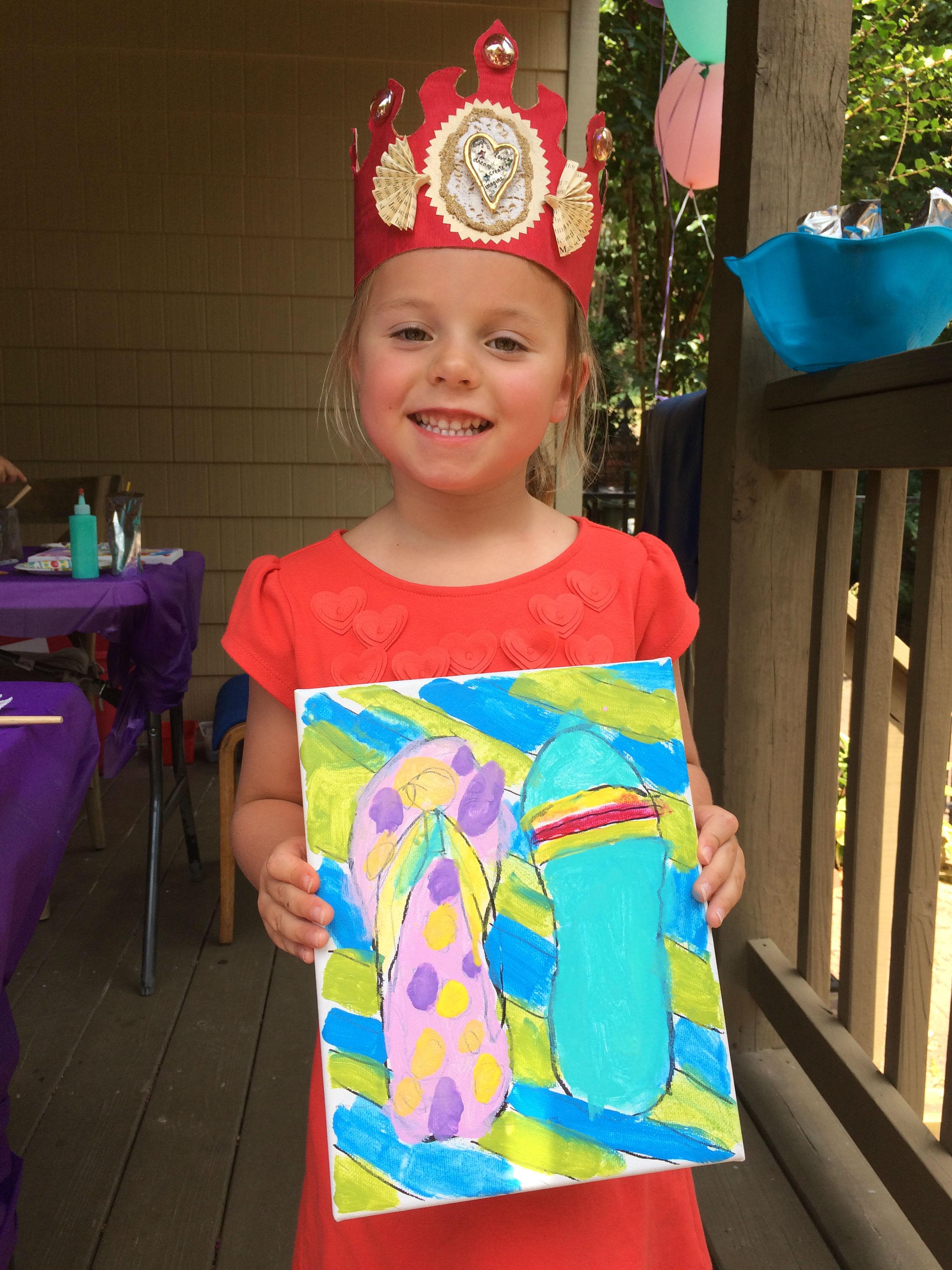 Summer Fun Birthday Painting